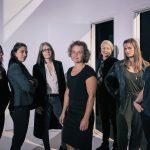 Joan Rang Christensen, Sonja Lea, Gøje Rostrup, Gitte Knudsen, Madeleine Røn Juul, Maja Ries, Weronika Andersen. Foto: Thomas Cato