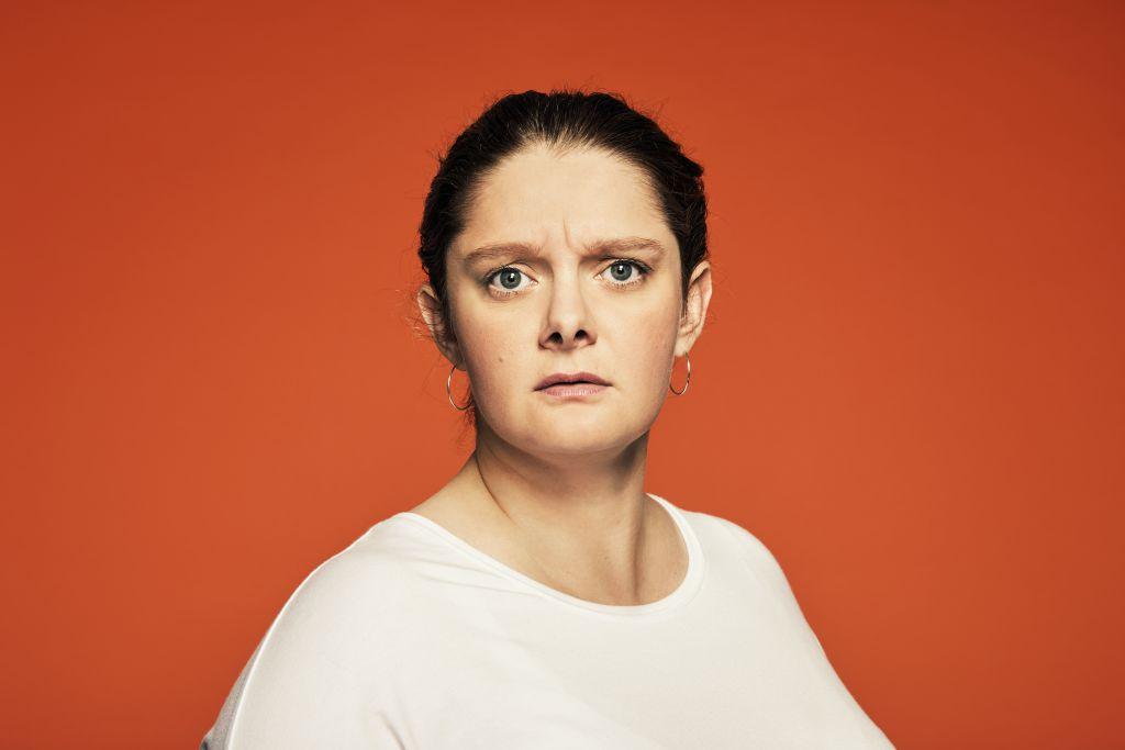 ELUSIA - Teater Grob 2020. I rollen som LIVA ses Anne Sofie Wanstrup. Foto: Emilia Therese